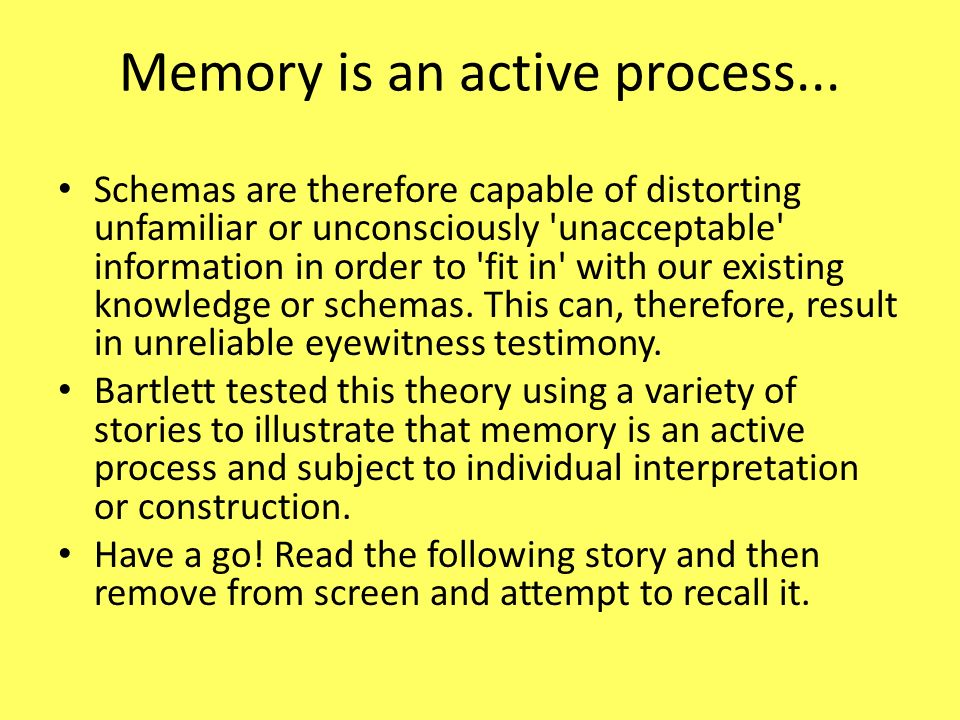 is memory a constructive and active process Memory as a constructive process report from the project on conditions of school learning and instructional strategies theoretical paper no 48.
