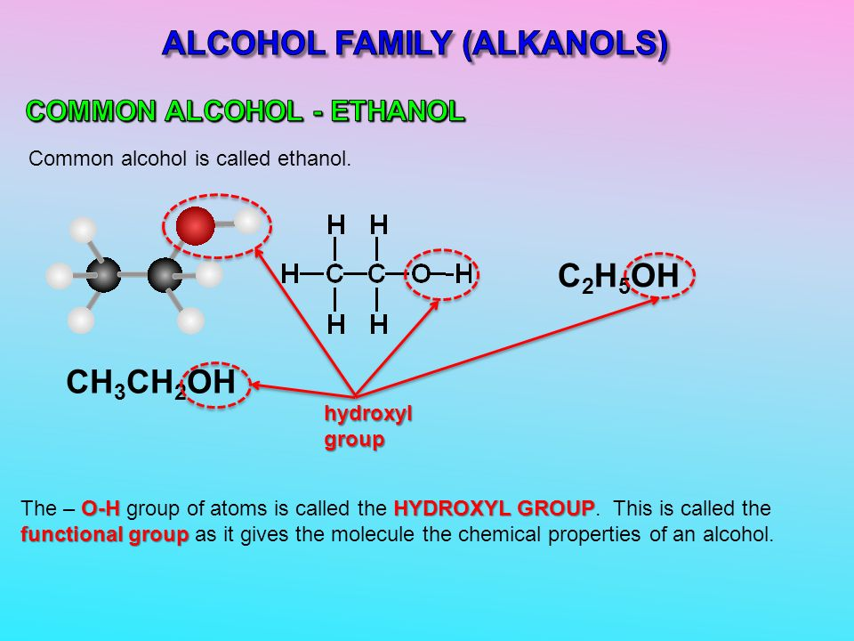 chemical properties of alcohol pdf