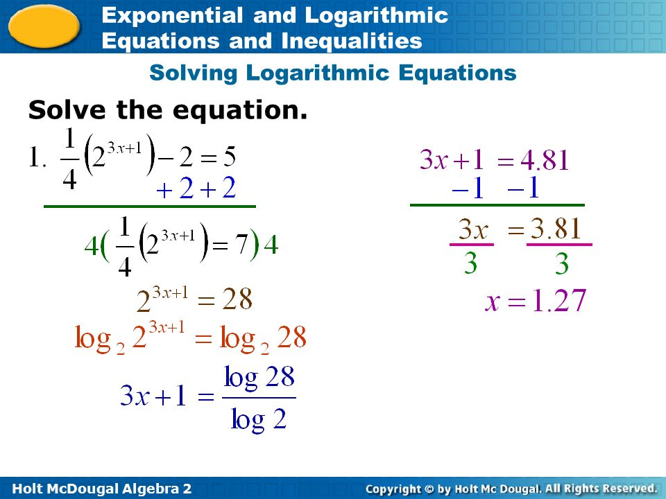 Exponential equations inequalities worksheet answers