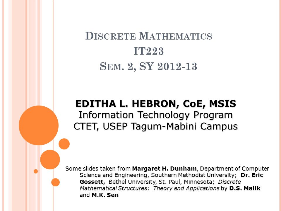 application of discrete mathematical structures to computer science
