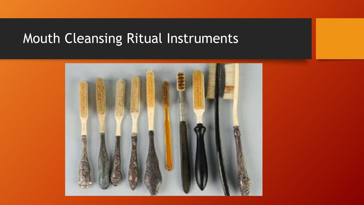body rituals among the nacirema answer the following questions on  2 mouth cleansing ritual instruments