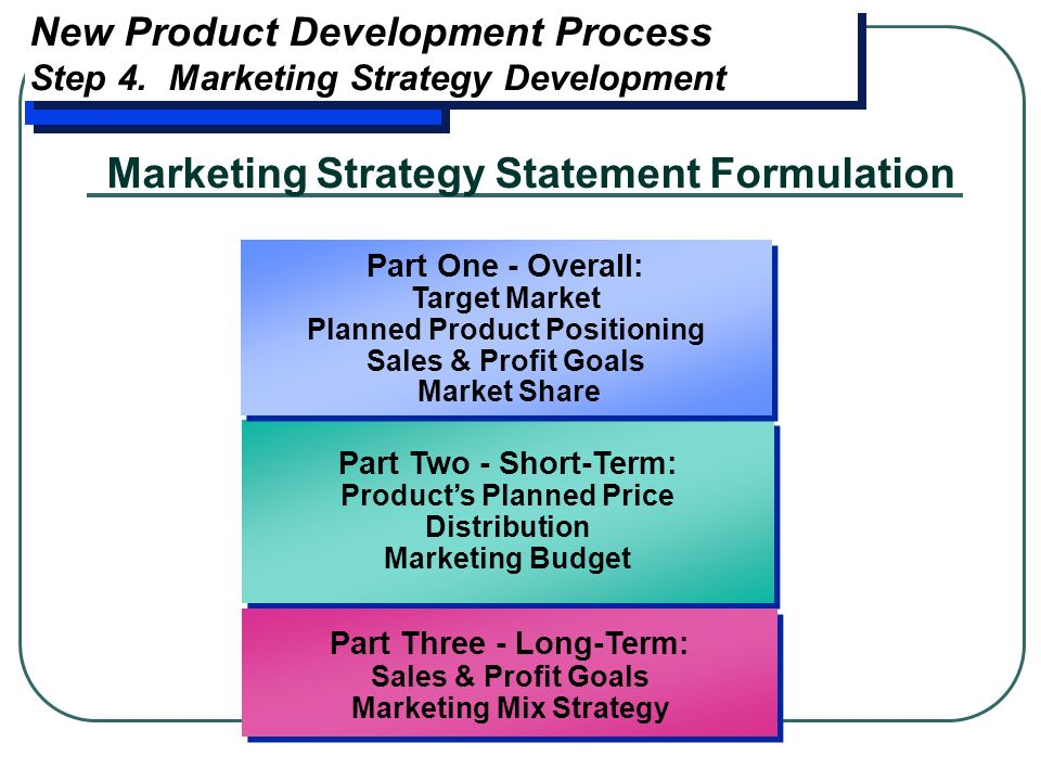 how to write a marketing strategy statement