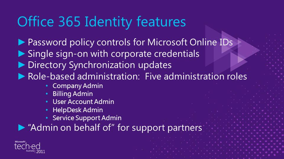 Microsoft office 365 identity and access solutions ppt download - Company administrator office 365 ...
