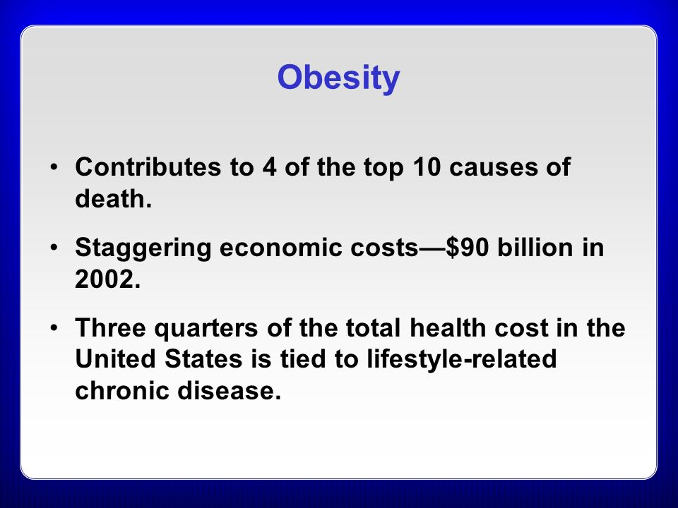 the causes of obesity in the united states Obesity is a known cause of type 2 diabetes, so this correlation should be of no surprise as the prevalence rates of obesity have skyrocketed in the united states and across the world, so have the rates of type 2 diabetes.