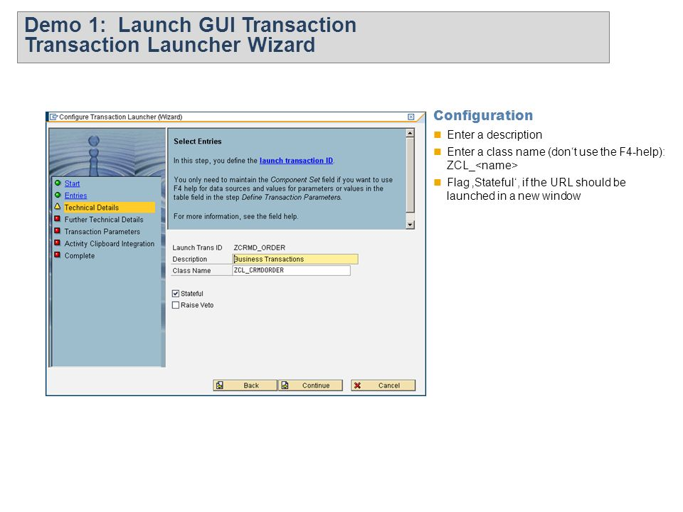 Sap webui transaction