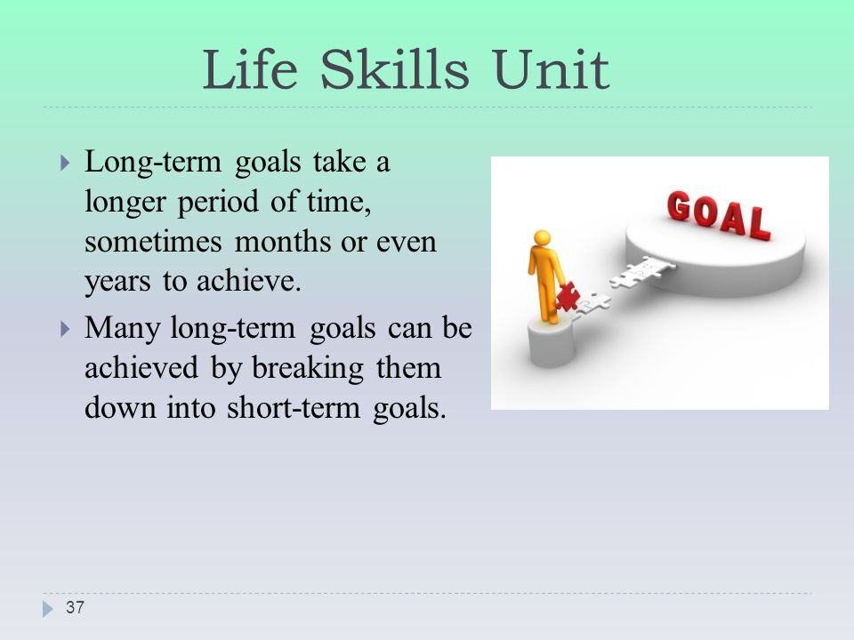 how to set long term goals and achieve them