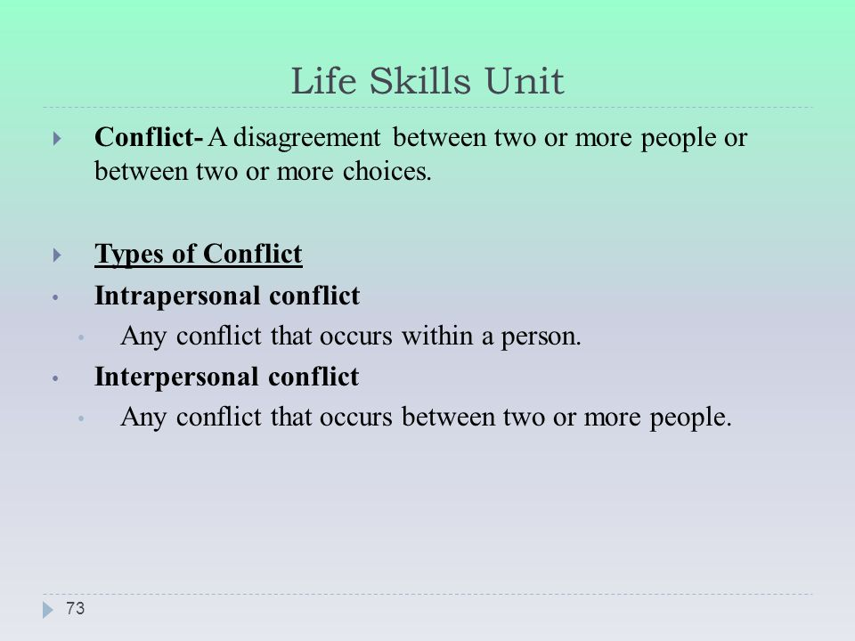 conflict occurs between the powerful Conflict at work is normal and inevitable,  (powerful versus less powerful),  intergroup conflict occurs between two or more groups in an organization,.