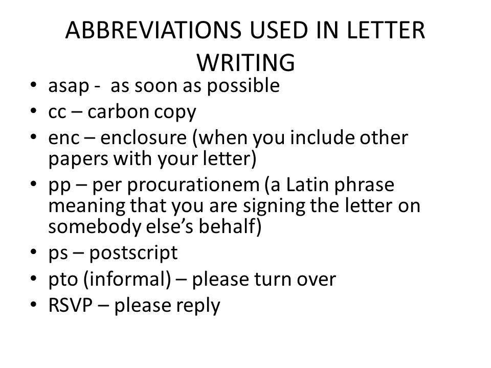 How to write a letter ppt video online download abbreviations used in letter writing spiritdancerdesigns Choice Image