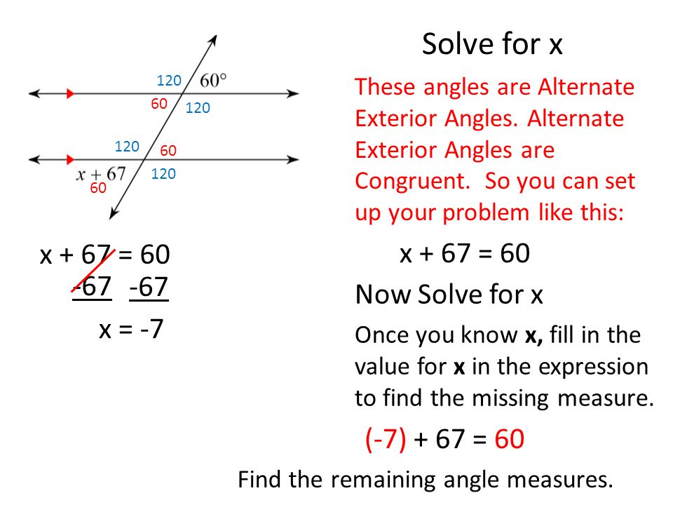 Finding Angle Measures With Equations Ppt Video Online Download