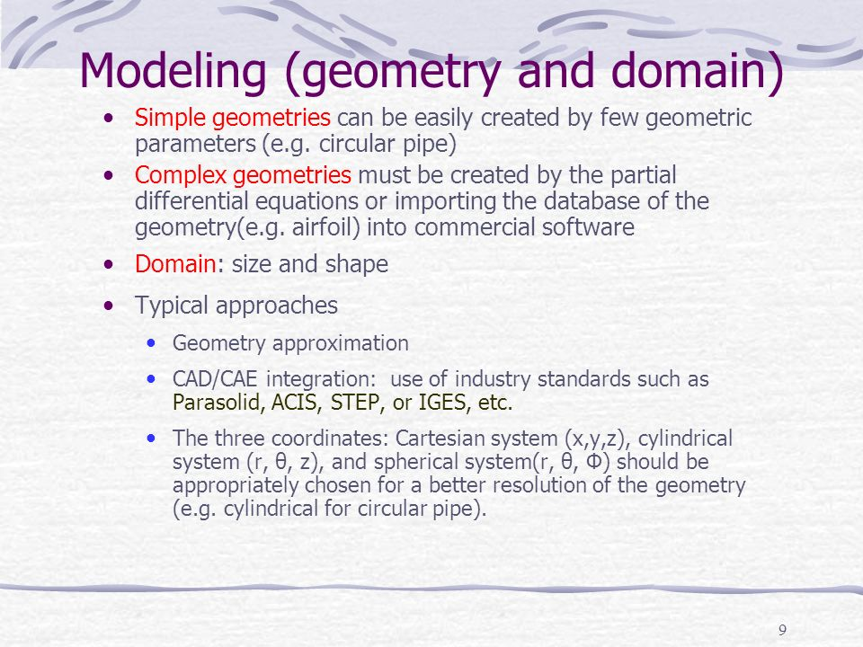 Modeling (geometry and domain)