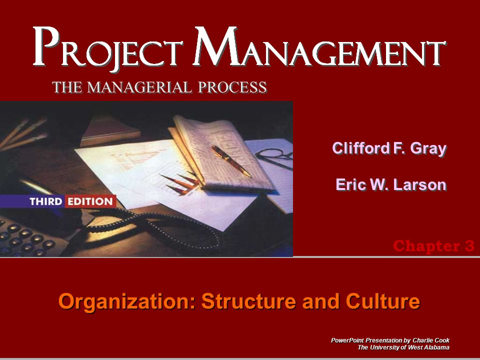 Organizational structure and culture.