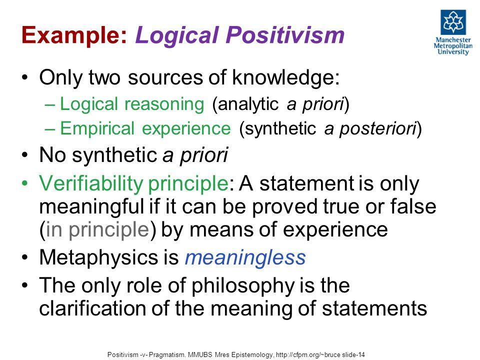 logical positivism