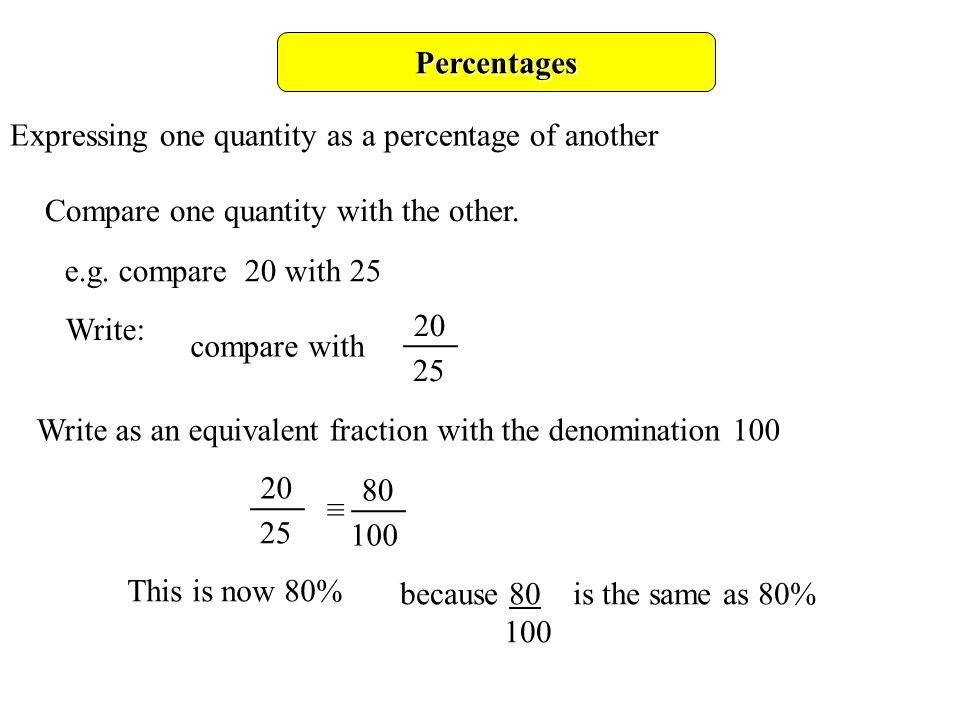 Format numbers as percentages