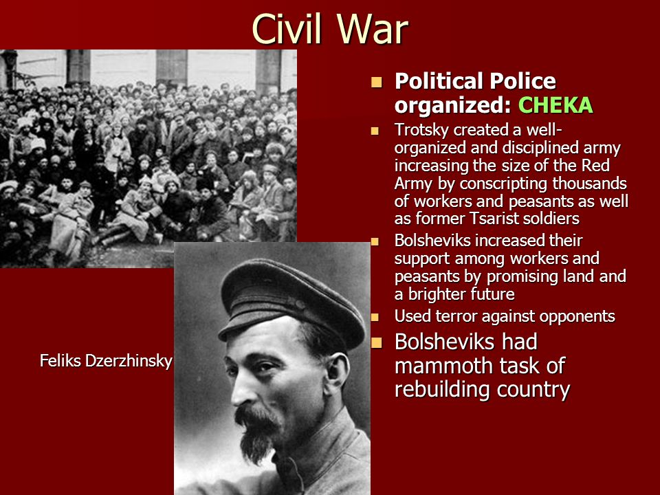 how important was the red terror in bolshevik success in the civil war Was the main reason why the bolsheviks won the civil war because of their   war communism was also important it was the  the red terror to control  opposition  success (eg the weaknesses of the whites) and considers.