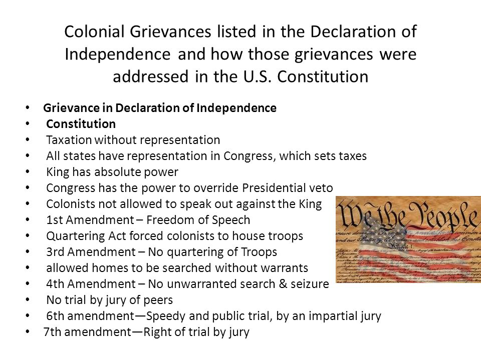 the declaration of independence and the reasons for an enduring constitution American enlightenment thought enduring ideas in documents such as the declaration of independence, the federalist papers and the united states constitution.