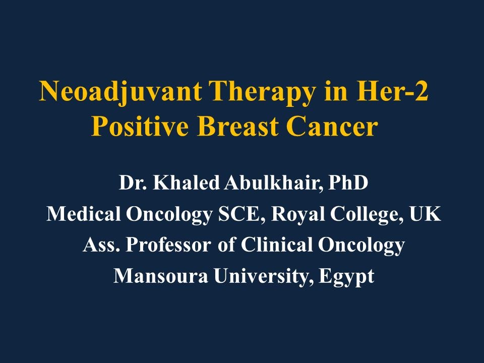 General principles of neoadjuvant therapy for breast cancer