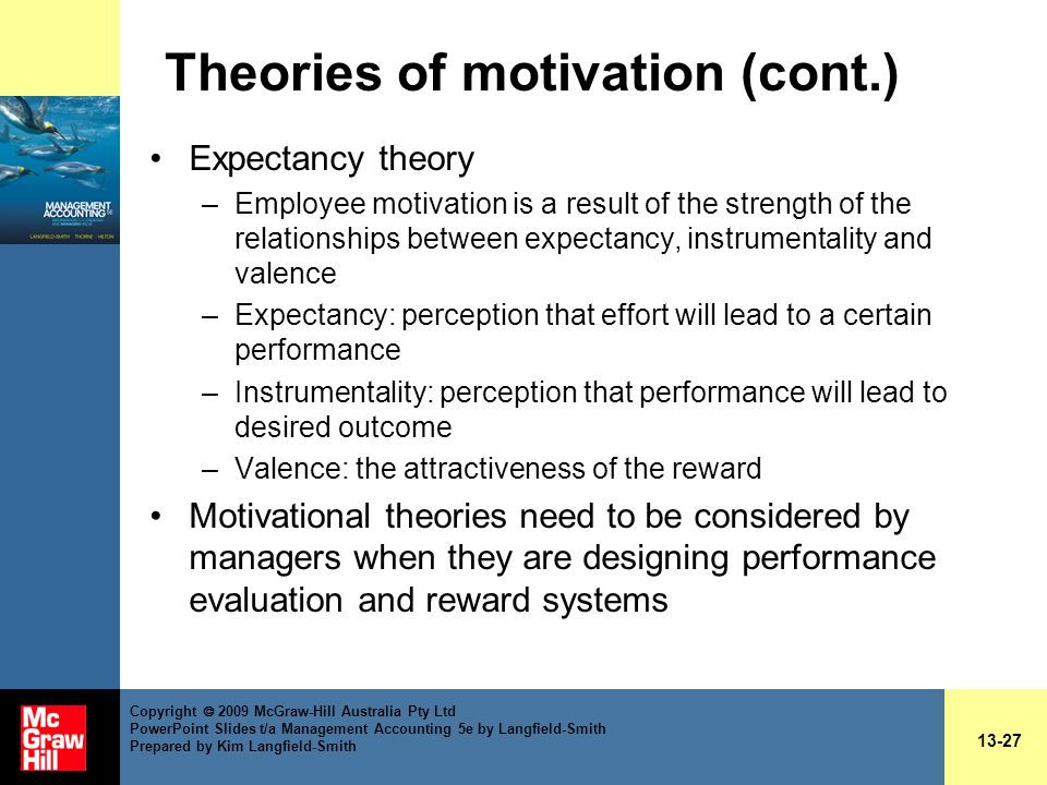 evaluate the usefulness of a motivation theory for managers Management and motivation  scientific management theory—frederick taylor's ideas, put into practice by the gilbreths in the film cheaper by the dozen, focused.