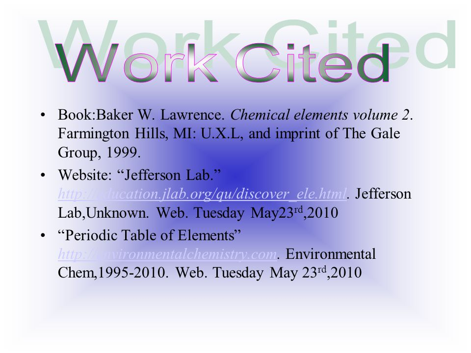 9 work - Periodic Table Jefferson Lab