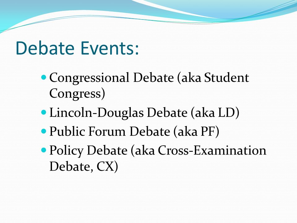 Debate Public Speaking And Speech Events Ppt Download
