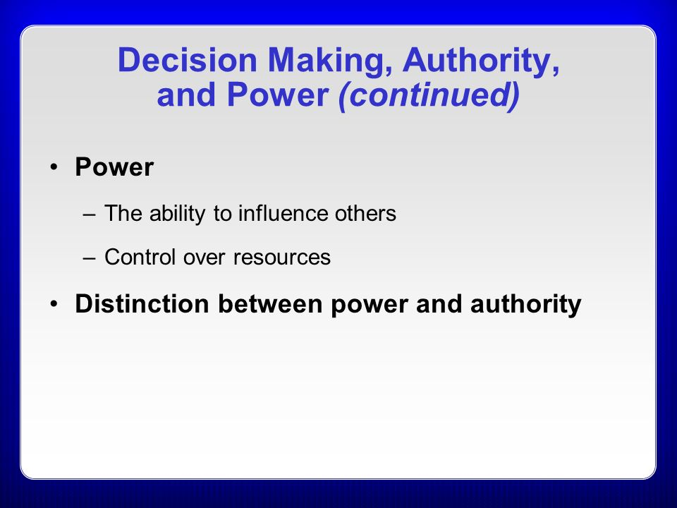 the forces of influences that should be considered when making managerial decisions Although personal characteristics, stress, experience or a looming deadline can play a role, objective business decision-making processes work to minimize these influences instead, processes should allow .