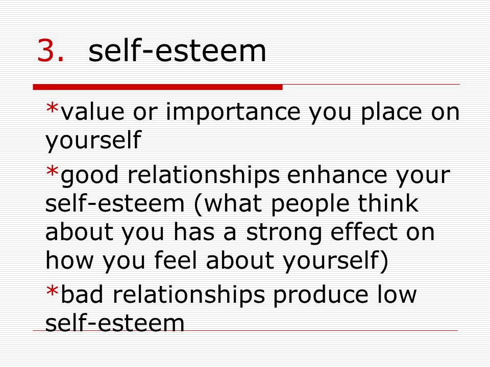 3. self-esteem