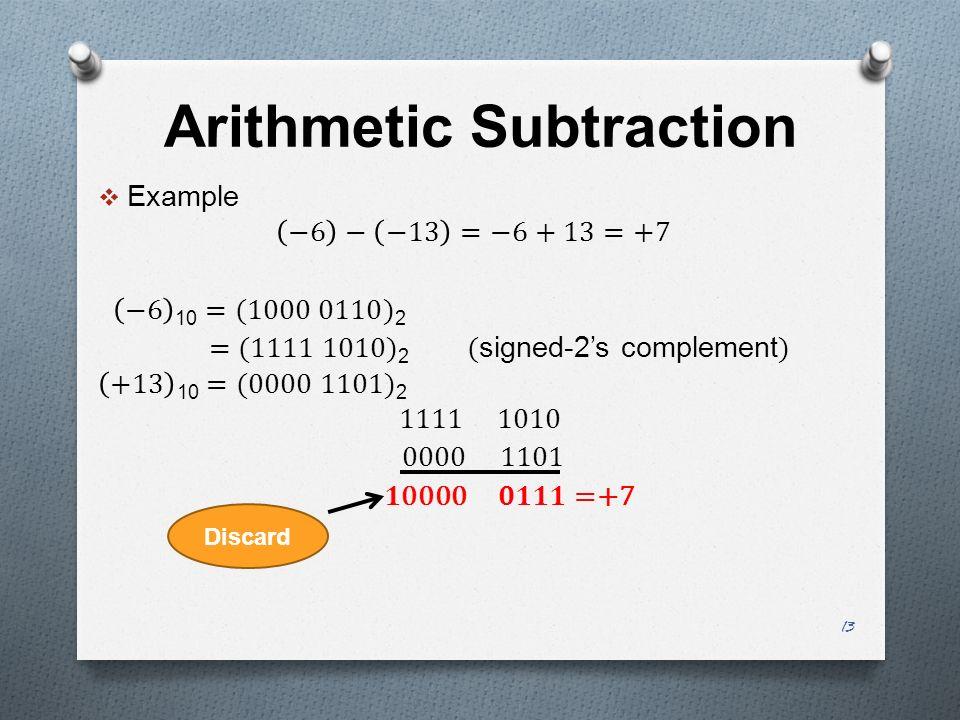 Arithmetic Subtraction