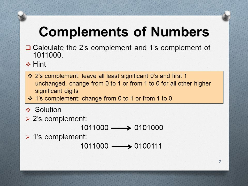 Complements of Numbers