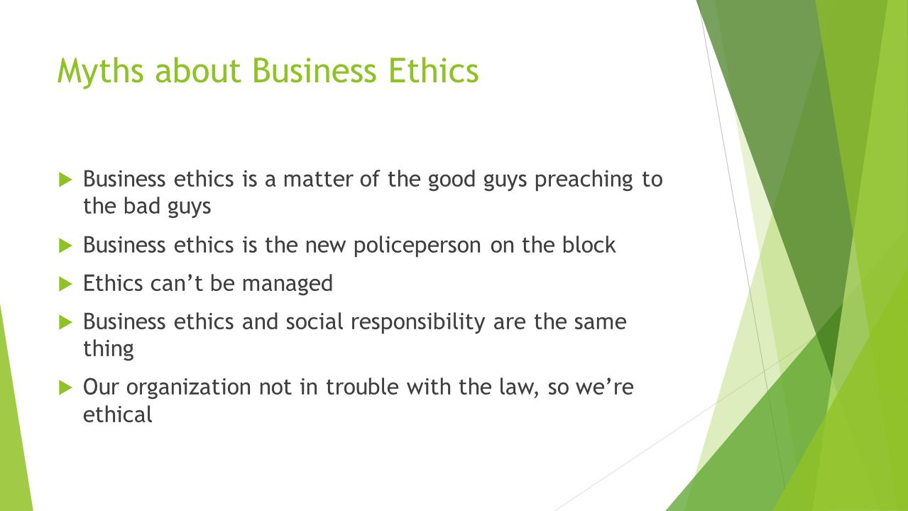 Business ethics presentations