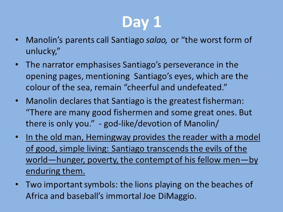 the old man and sea manolin santiago relationship poems