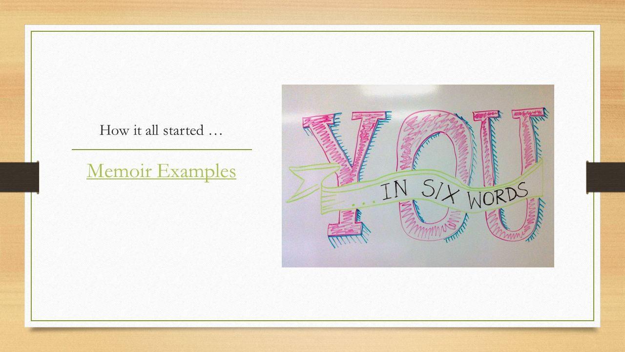 """""""Leave an impression In six words."""" - ppt download"""
