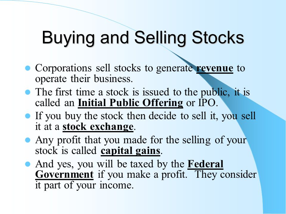 Chapter 11 financial markets ppt video online download buying and selling stocks ccuart Image collections