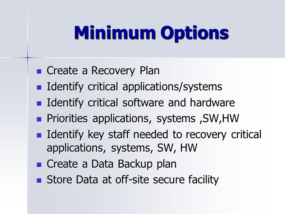 Online backup options for small business
