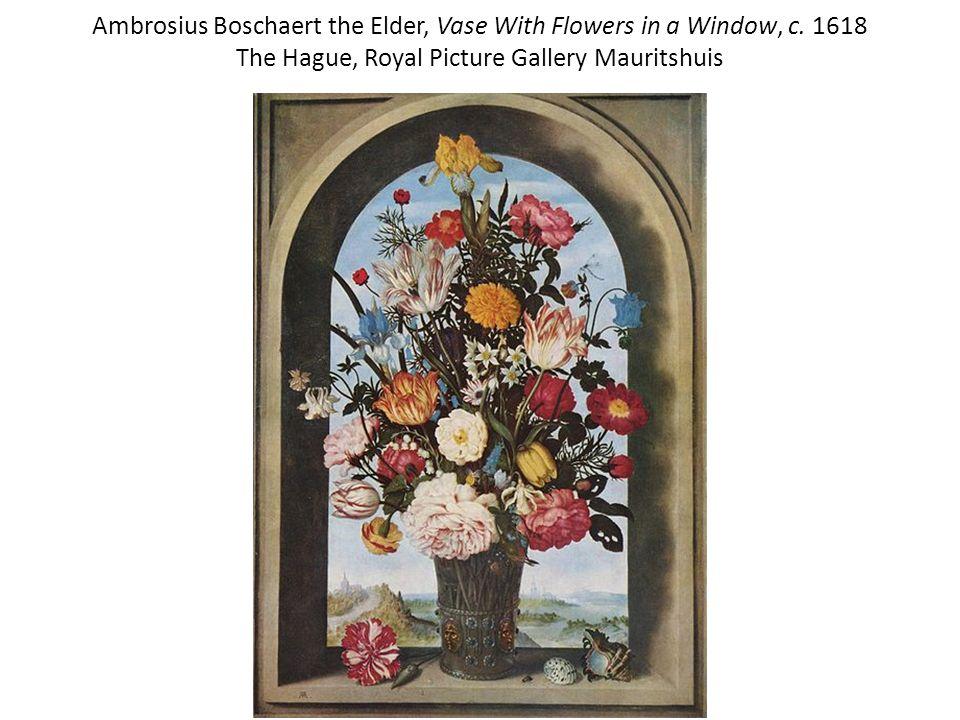 Ambrosius Boschaert the Elder, Vase With Flowers in a Window, c