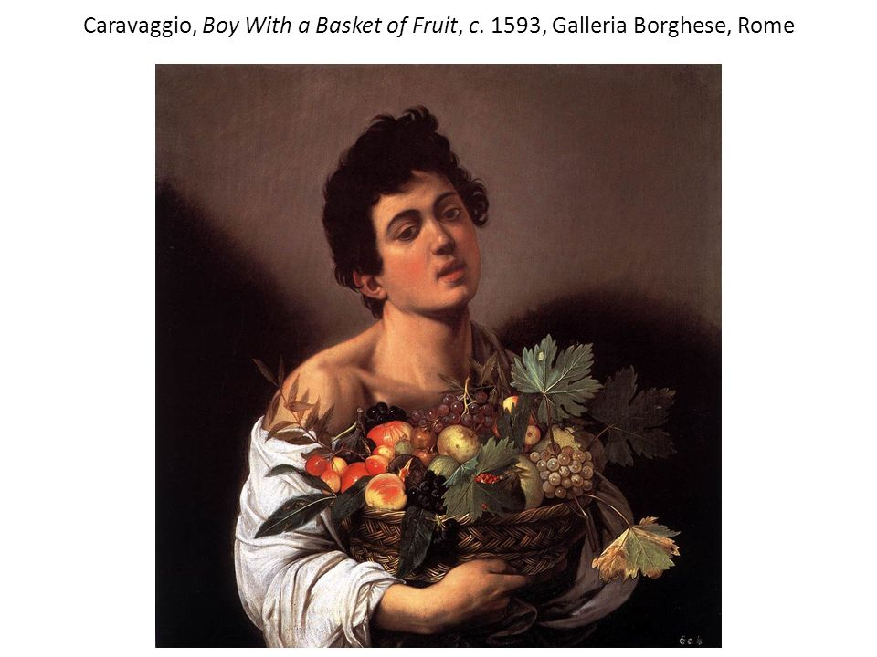 Caravaggio, Boy With a Basket of Fruit, c