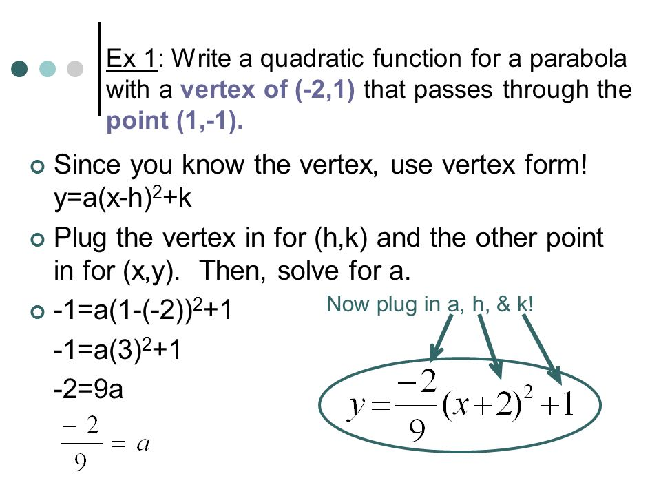 5.8 Modeling with Quadratic Functions - ppt download