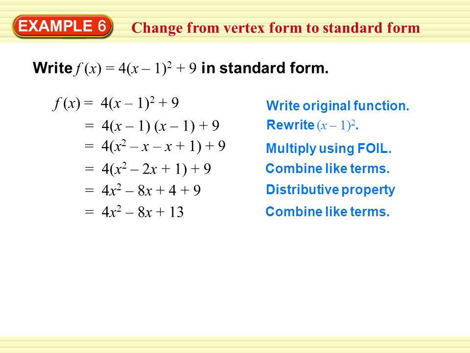 Change from intercept form to standard form - ppt video online ...