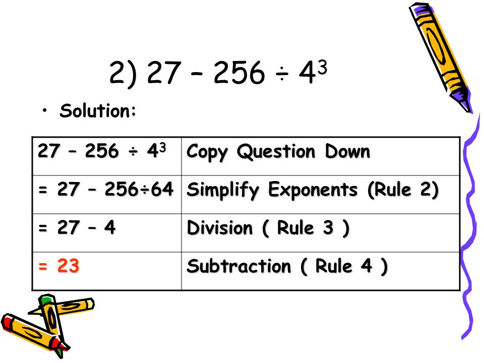 ORDER OF OPERATIONS LESSON ppt download