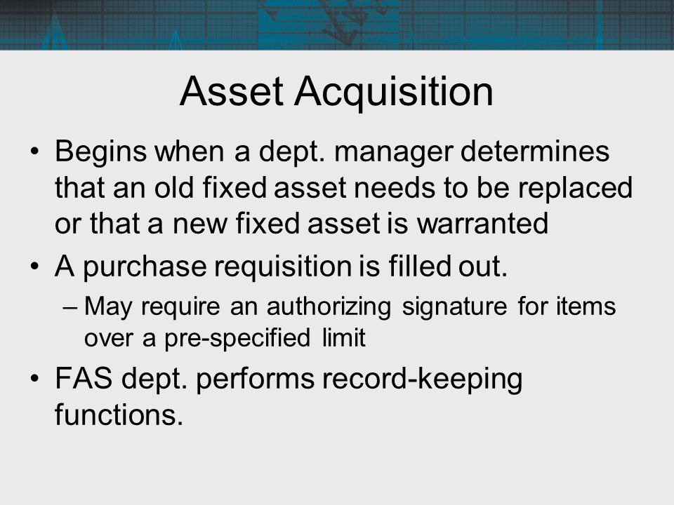 fixed asset record