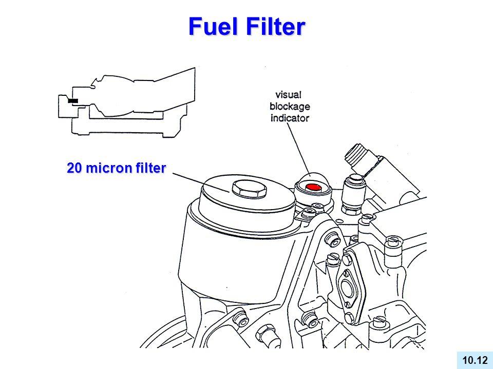 Fuel Filter 20 micron filter FUEL FILTER DESCRIPTION MAINTENANCE 10.12