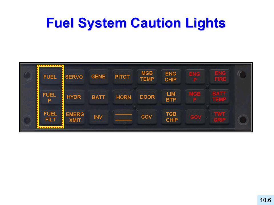 Fuel System Caution Lights