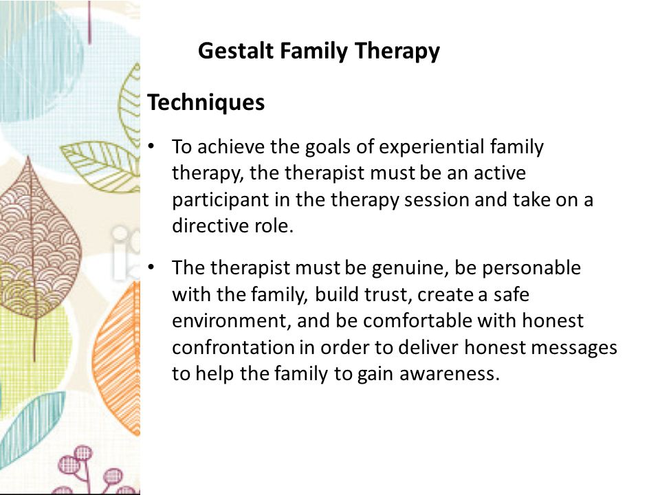 family systems therapy and theories Addiction as a family affair: the addiction as an organizing principle using systems theory in substance abuse some types of family systems therapy regard.
