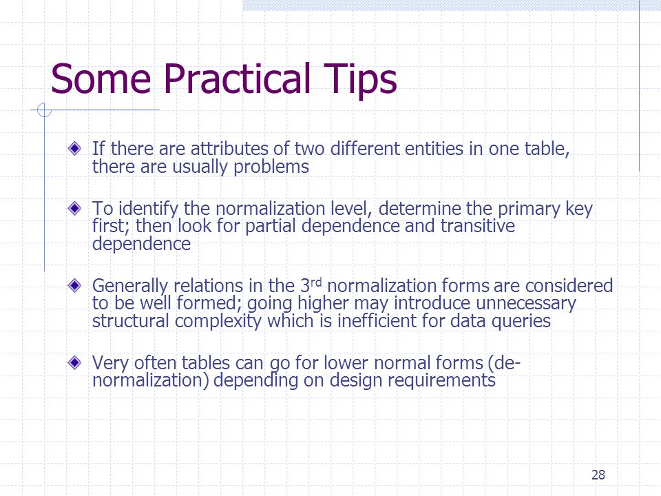 Normalization ACSC 425 Database Management Systems. - ppt video ...