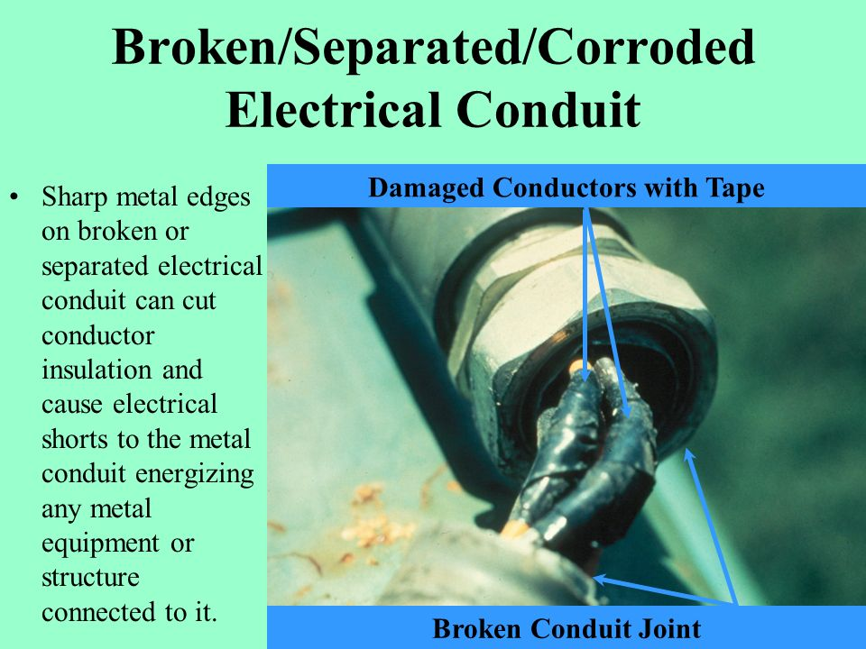 Broken Fseparated Fcorroded Electrical Conduit on Low Voltage Enclosures