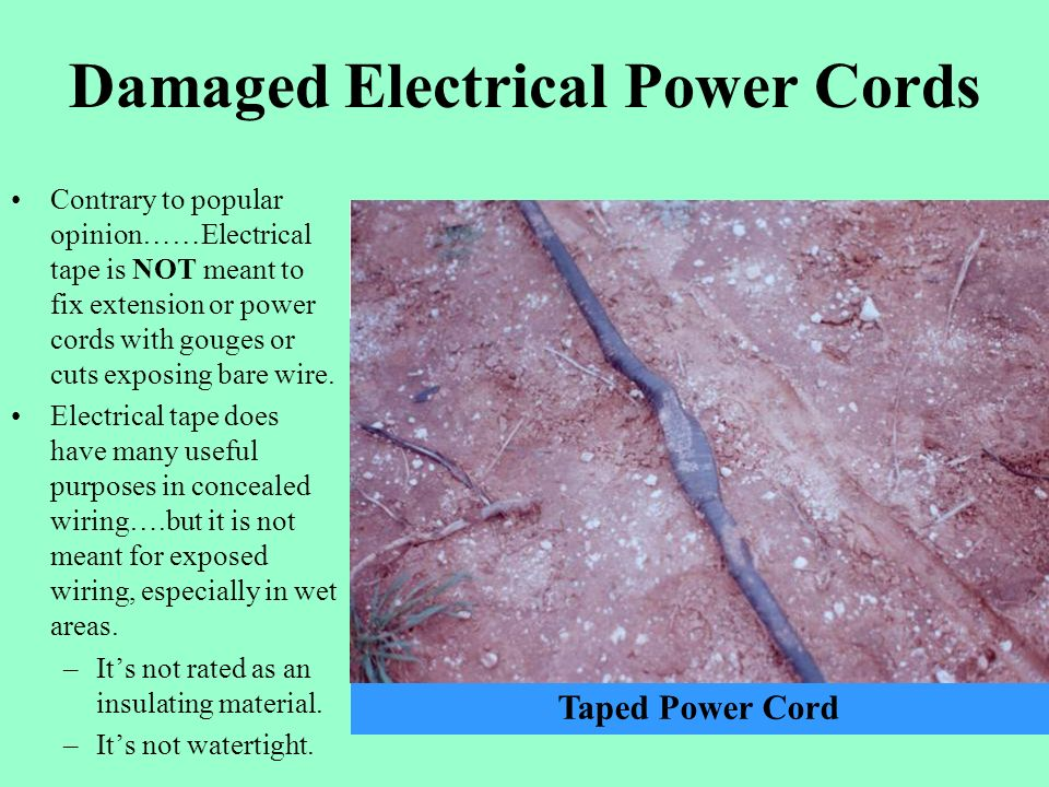Damaged Power Cords : Safety around irrigation systems ppt video online download