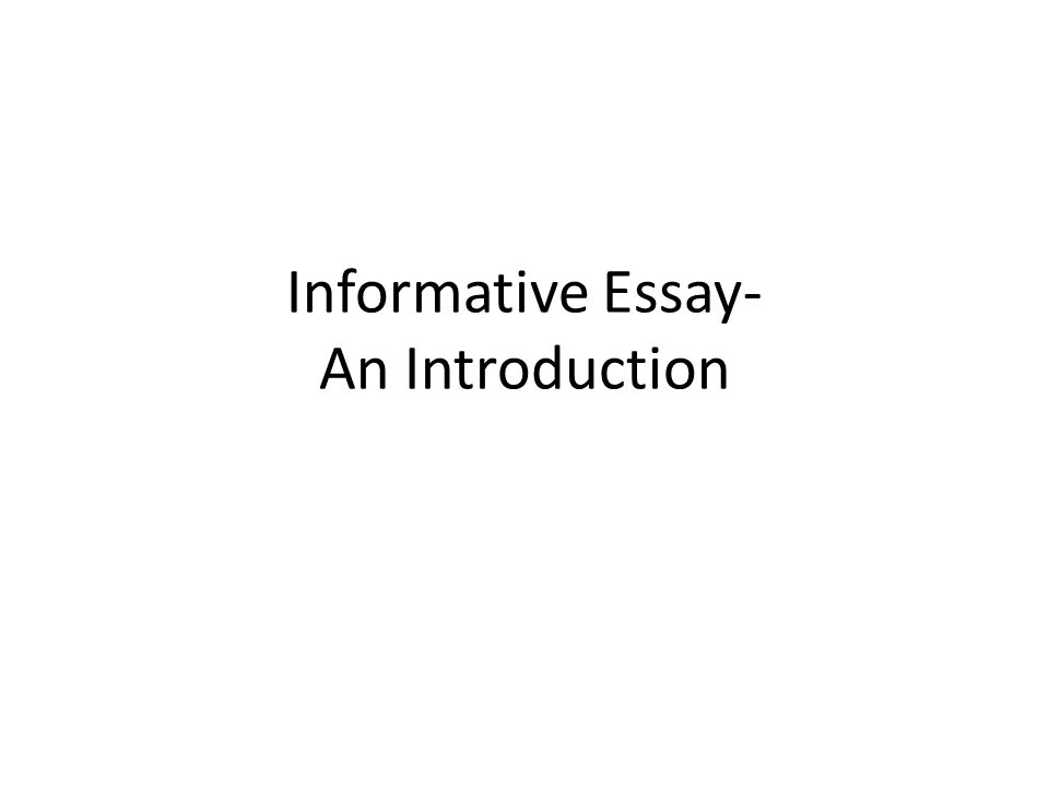ways to end an informative essay