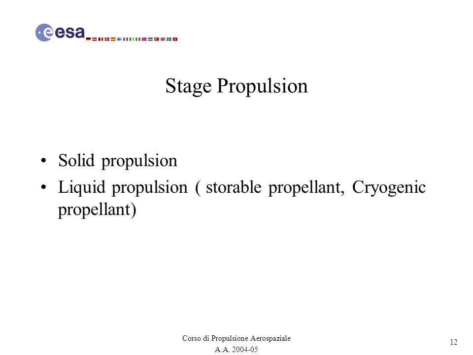 Stage Propulsion Solid propulsion