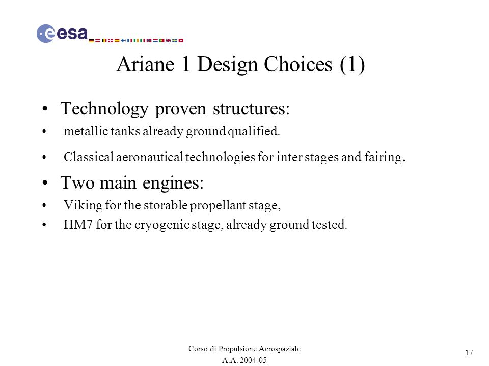 Ariane 1 Design Choices (1)