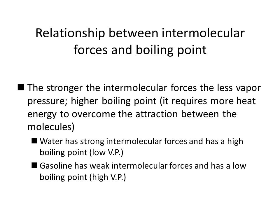 relationship between intermolecular forces and capillarity