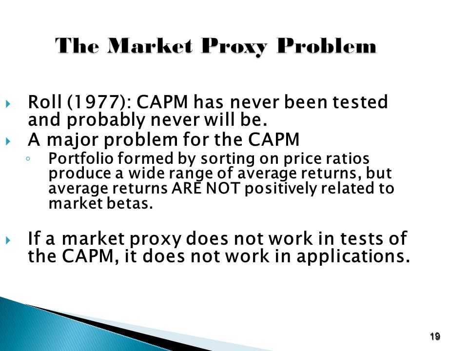 capm problem Capm problem set 2 (due thursday 11/20) (1) suppose in one year period the expected return and standard deviation of the market portfolio m are 8% and 12% respectively.
