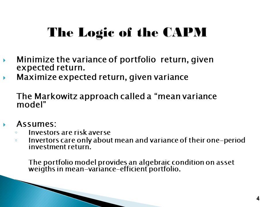 portfolio theory and capital markets sharpe pdf